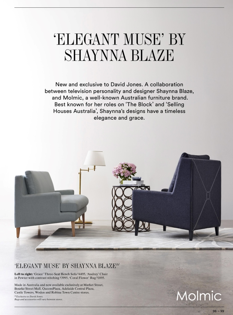 Attractive Elegant Muse Collection Featured In David Jones Fashion And Now Furniture  Catalogue U2013 Molmic